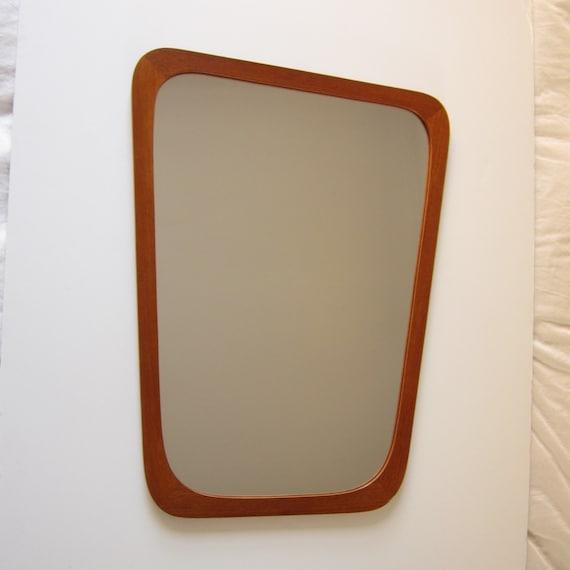 Danish Modern Asymmetrical Wall Mirror by ModernSquirrel on Etsy