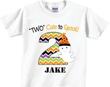 2nd Halloween Birthday Shirts with Cute Ghost