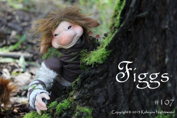 A Young Troll FIGGS OOAK Art Doll Sculpture by Nightswood