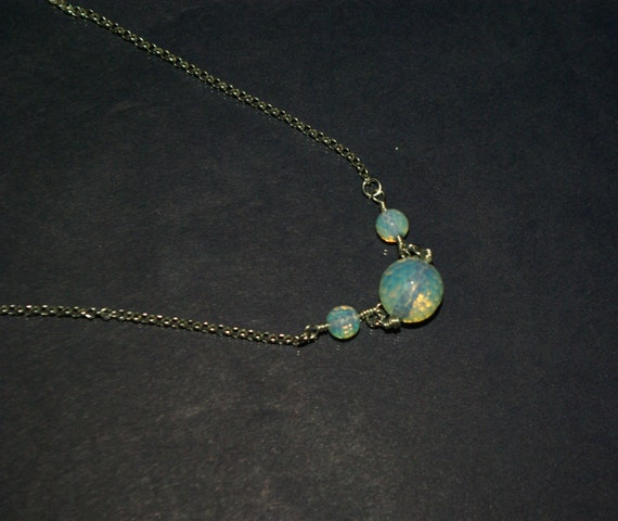 science jewelry h2o water molecule necklace chemistry jewelry