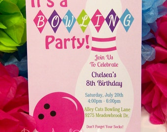 Bowling Invitation-Bowling Invite-Bowling Party-Bowl Invitation-Printable Bowling Invitation-Bowling-Bowling Birthday-Bowling Ball