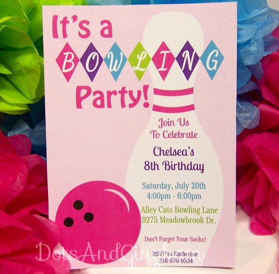 Bowling Birthday Party Invitations Free Templates is best invitations sample