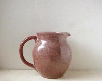 studio pottery pitcher, rustic