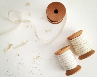 "Metallic Cotton Ribbon -  10 Yards - Wedding Ribbon - 1/4"" wide - 5 Yards Each - DIY Weddings - Metallic Cotton Ribbons - Choose your colors"