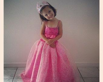 Barbie Princess and Popstar Princess Tori Pink Dress 2 pcs Costume Set for Girls -One Dress-