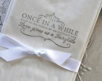 20 Wedding Glassine Bags Fairytale Life, ANY COLOR INK