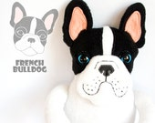 15% off French Bulldog Buddy, soft art toy - entala
