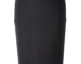 Baylis & Knight Black Grace GIRDLE Strong Hold-In Wiggle Pencil Skirt Dita Burlesque Office