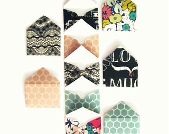 10 Mini Paper Envelopes, Mini Envelopes,Tiny Envelopes,Small Envelopes,Floral Mini Envelopes, Party Favors,Wedding Favors,Floral Envelopes