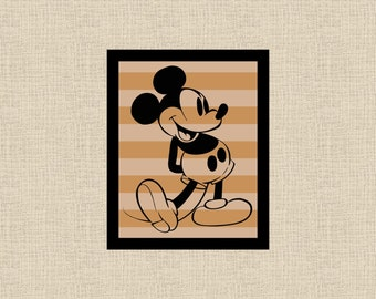 Mickey Mouse Vintage Inspired Printable Wall Art