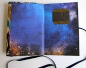 Galaxy // Ikat // Fabric Eco-Friendly Hand Bound Fabric Keepsake Journal