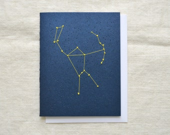 Orion Constellation - Hand Embroidered Card
