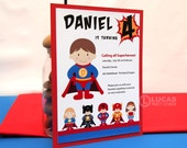 Super Kid Birthday Party - DIY PRINTABLE Invitation Card - H4a