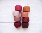 Crochet thread - mix of 8 Linen Thread - harvest collection
