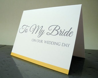 To My Bride on our Wedding Day Card - Gift from the Groom