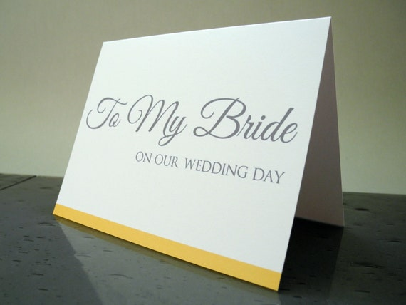 Wedding Day Gift From Groom To Bride: To My Bride On Our Wedding Day Card Gift From The Groom