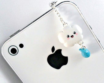 Kawaii Cloud Dust Plug, For iPhone or iPod, Cute :D