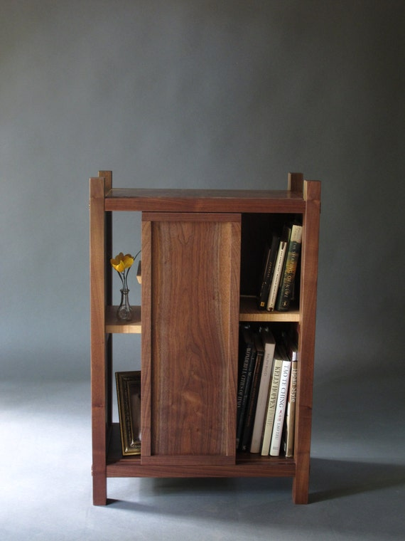 Entry Cabinet: Small Cabinet with Shelves/ Sliding Door