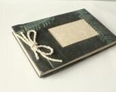 Handmade photo album Lokta paper fern imprint