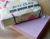 Rose Clay Guava Coconut Milk Soap, Purifying Sulfate Free Soap In Artisan Floral Paper
