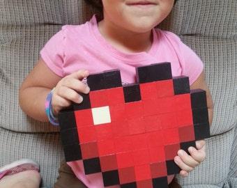 Minecraft Heart Wood Pixel Art