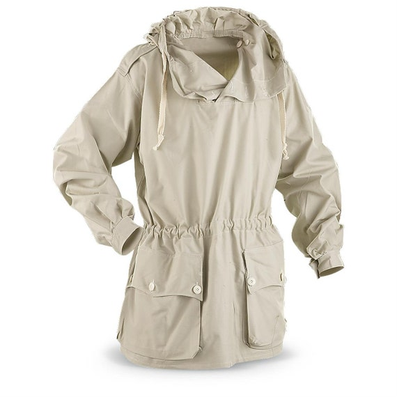Vintage Swedish Anorak Pullover Snow Jacket In Oatmeal By