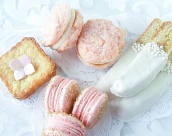 Macaron Cookies Chic Pink French Macaron Dessert Cookie Buffet