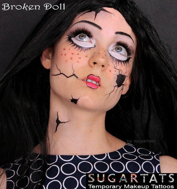 Amazing office halloween costumes for your next party for Face tattoo makeup