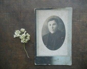 Antique Original Cabinet Portrait Photograph Vintage Men photograph 1920-30s