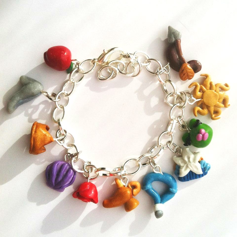 Princess Symbol Polymer Clay Charm Bracelet