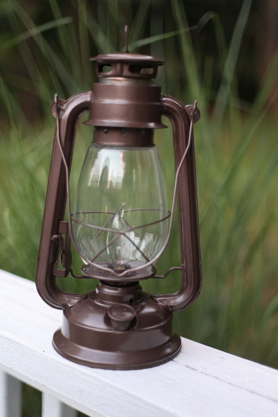 Electric Hurricane Lantern Bronze Rustic By Mikemburkedesigns