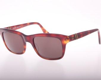 Lastes vintage 80s squared wayfarer dark havana sunglasses with flexible arms, NOS 1980s