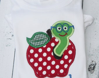 Apple with Worm T-shirt or Bodysuit