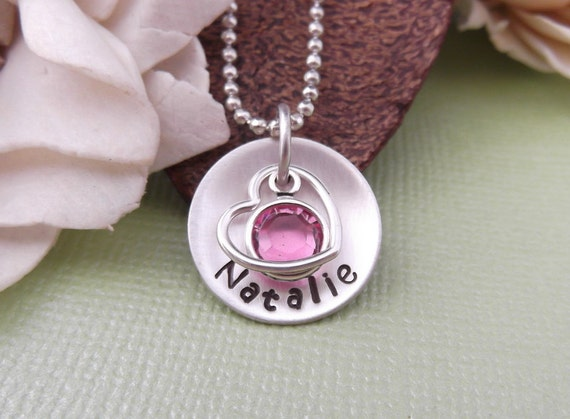 New Mommy Necklace- Mommy Jewelry- Personalized Mom Necklace- Hand Stamped Mom Necklace- Mommy Tags- Mom Necklace- New Mom Gift- Name Tags