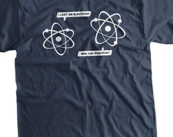 Lost Electron Screen Printed T-Shirt Tee Shirt T Shirt Mens Ladies Womens Youth Kids Funny Science Geek School