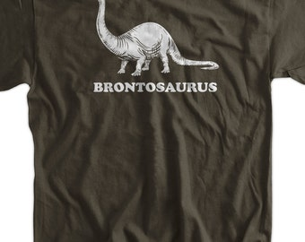 Funny Dinosaur T-Shirt - Brontosaurus Geek Science Kids School Mens Ladies Womens Youth