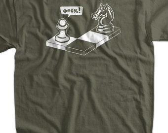 "Chess Capture the Pawn ""Ooopsie"" Screen Printed T-Shirt Mens Ladies Womens Youth Funny Geek Nerd Chess Club School Kids"