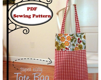 EASY Tote Bag -- PDF Pattern