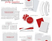 BELIEVE Red Silver and White Christmas PARTY SUPPLIES from The Celebration Shoppe