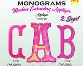 Fishtail Monograms - Fish Tail Monograms APPLIQUE - Fish Tail Monograms