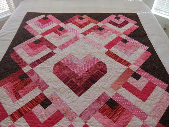 handmade quilt prices items similar to price reduced handmade pink and brown 3029