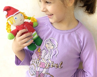 Christmas Elf Doll, Crochet Amigurumi Pattern