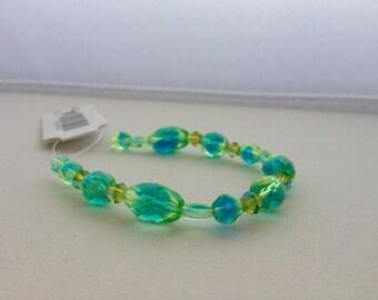 Green Blue Combo Mix Czech Glass Beads 20pcs