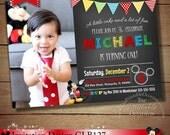 HUGE SELECTION Mickey Mouse Printable Invitation, Chalkboard Mickey Mouse Invitation, Chevron Mickey Invitations, Mickey Photo Invitation