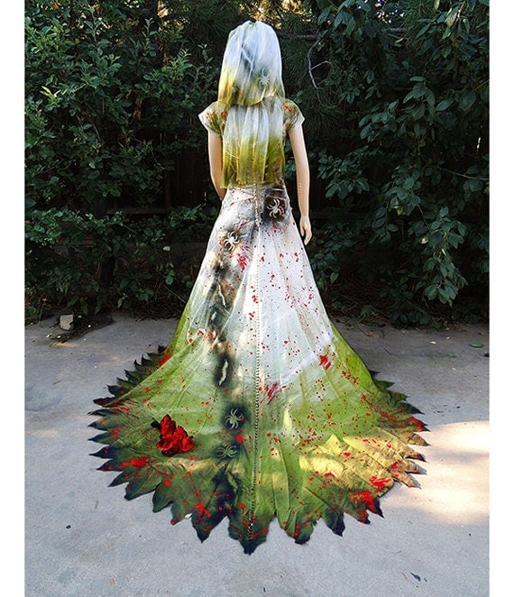 Couture Zombie Bride Encrusted With Insects Blood And