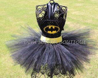 Batman Tutu Dress/ Batgirl Tutu Dress/ Costume