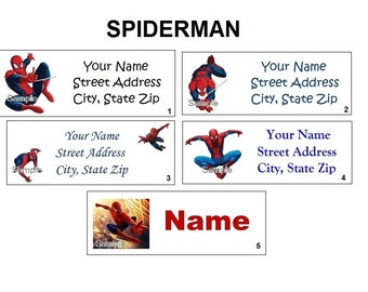CUTE Spiderman Return Address, Party & Name Sticker Labels