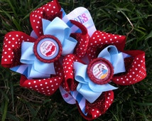 DOROTHY BOWS - Wizard of Oz Bows - Pigtail bows - Dorothy Costume - Shoe toppers - Wizard of Oz Birthday - Wizard of Oz Party