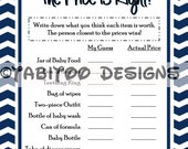Baby Shower Price is Right! - PRINTABLE