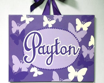 Canvas Name  Butterflies- Custom